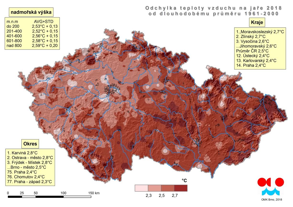 Jaro 2018 – nejteplejší za dobu měření v Brně3 min čtení