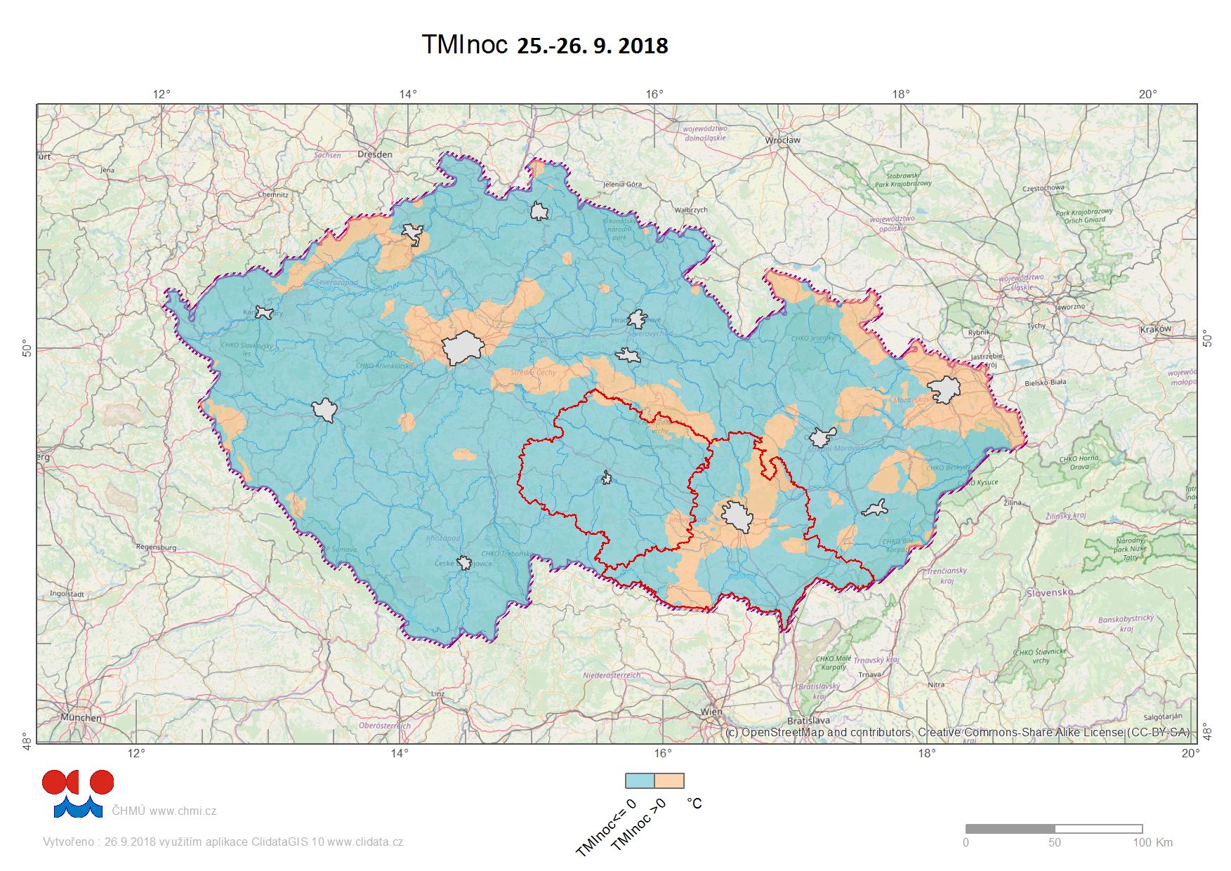 Noční mráz v krajích Jihomoravský a Vysočina1 min čtení