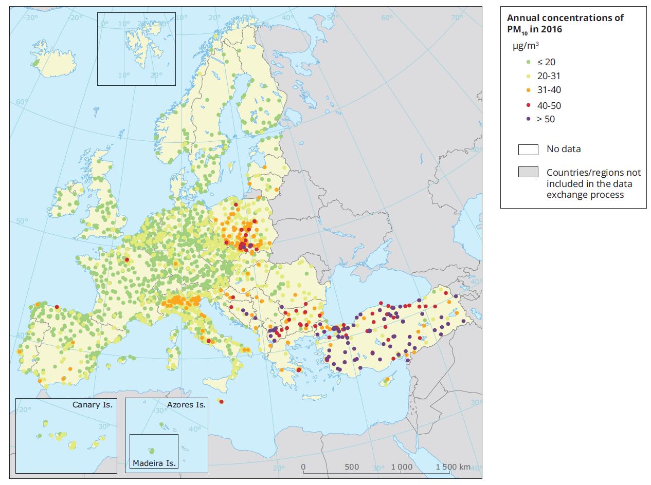 Kvalita ovzduší v Evropě – Díl 2. – Suspendované částice12 min čtení