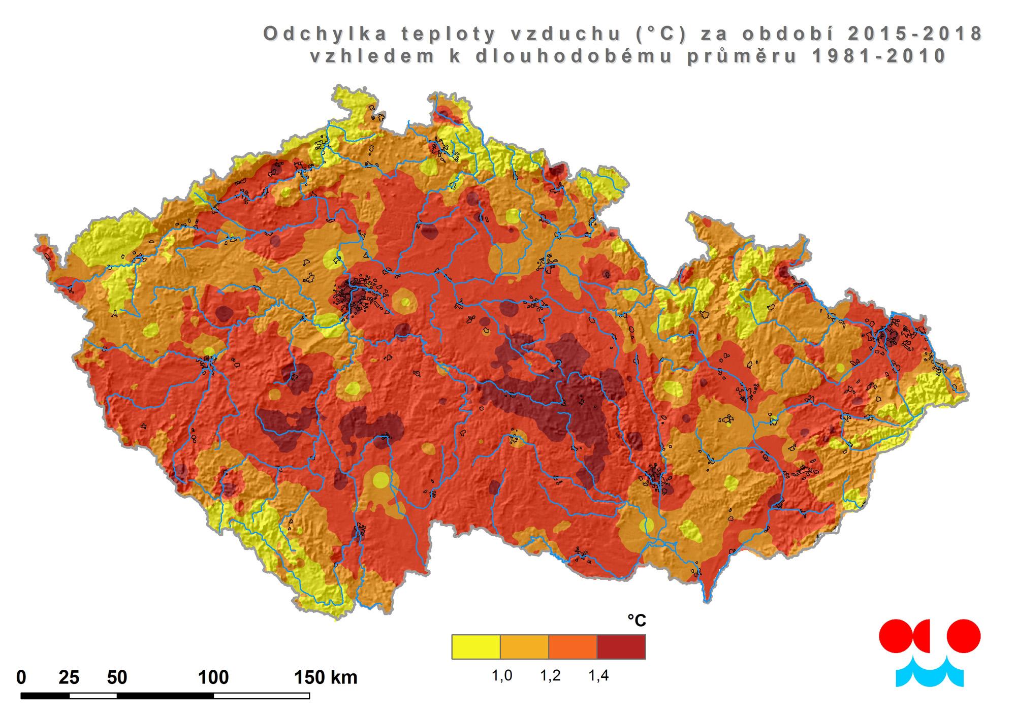 Teplotně nadprůměrné období 2015-20181 min čtení