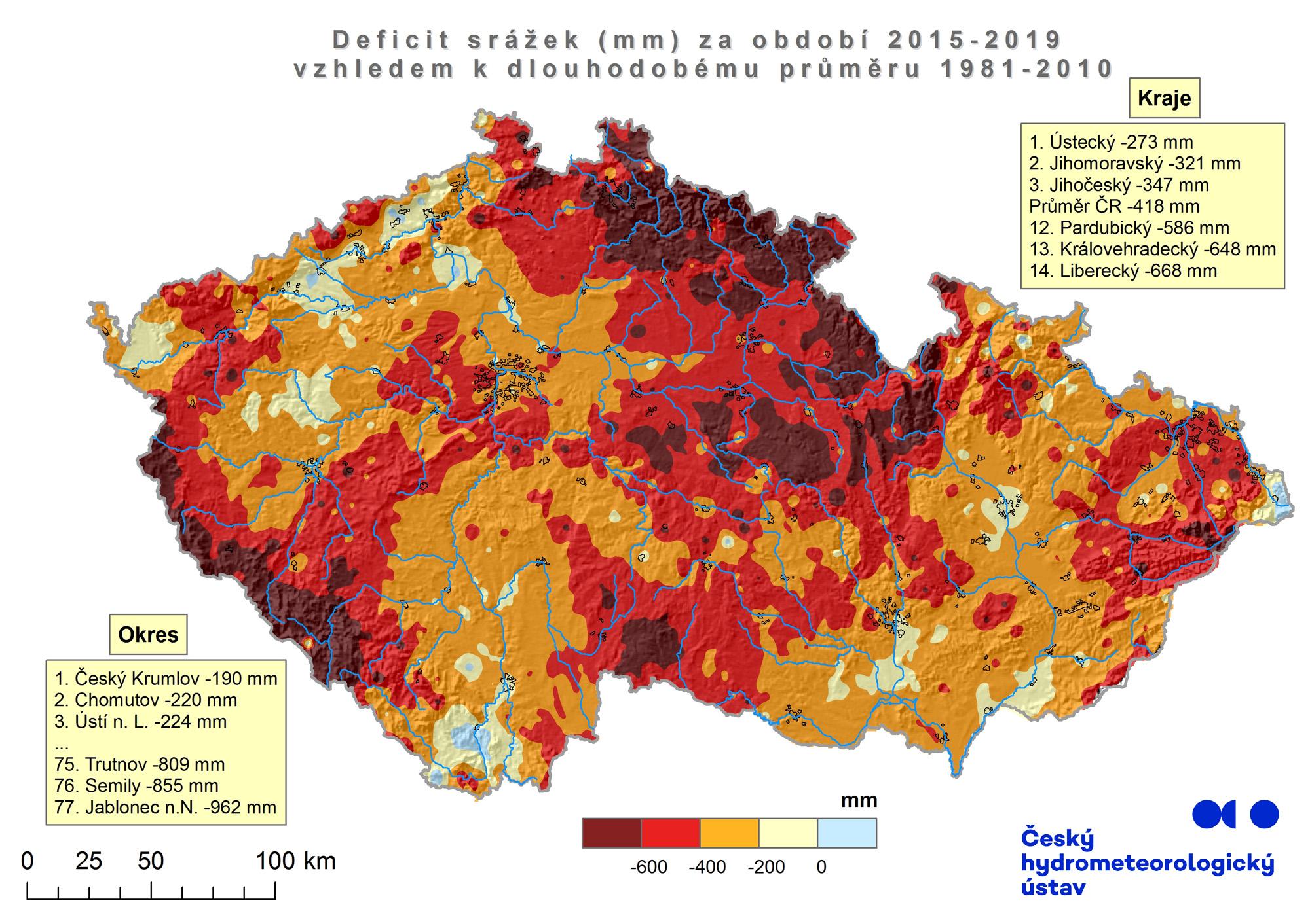 Deficit srážek za období 2015-20191 min čtení