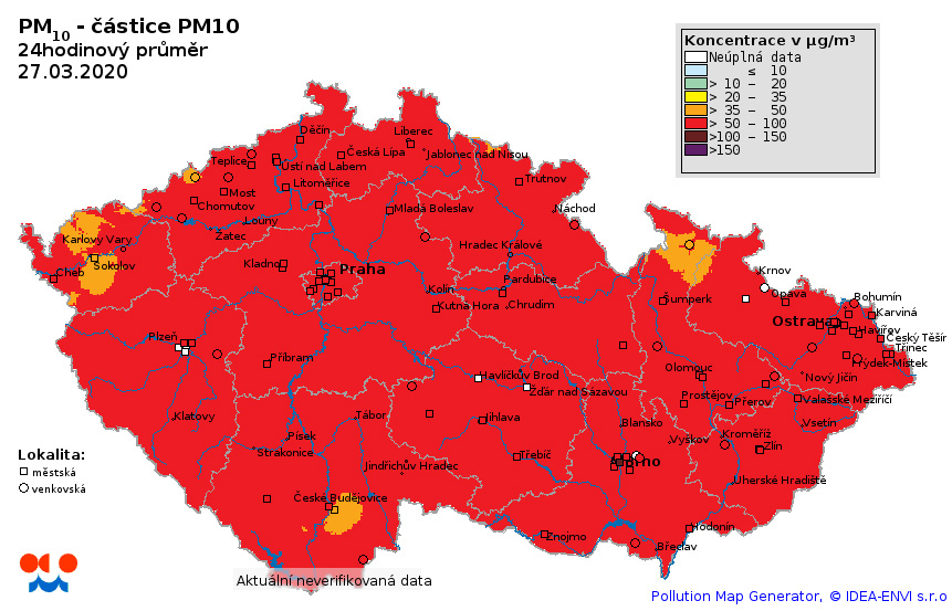 Zhoršená kvalita ovzduší na území ČR3 min čtení