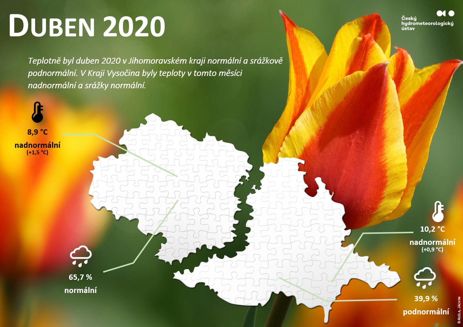 Duben 2020 v krajích Jihomoravský a Vysočina3 min čtení