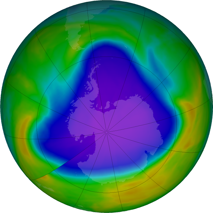 Po roce s velmi malou ozonovou dírou tu máme rok s ozonovou dírou o výrazně nadprůměrném rozsahu4 min čtení