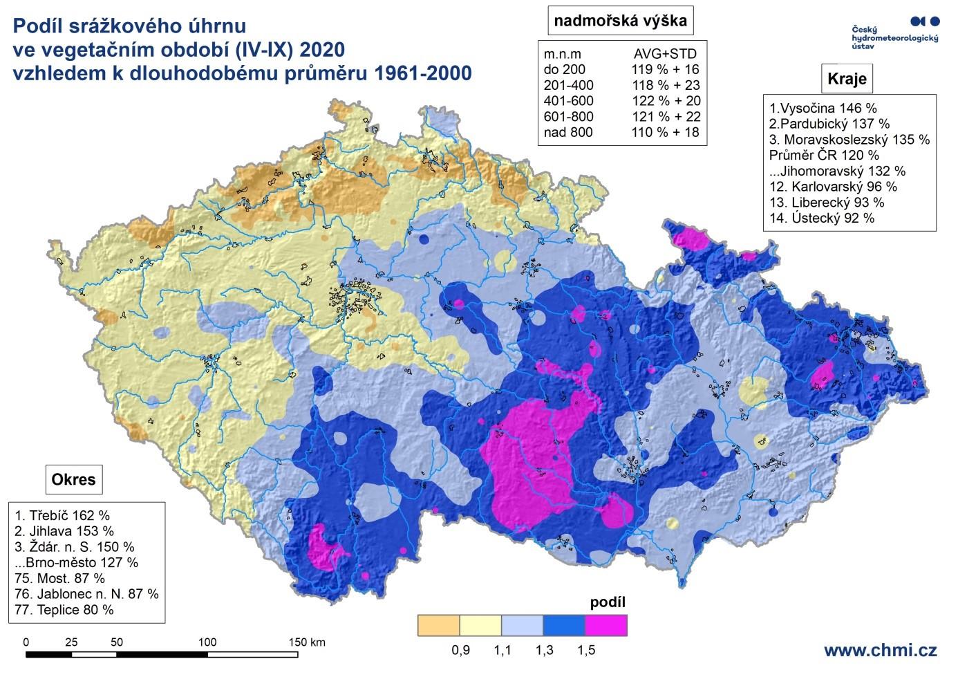 Vegetační sezóna 2020 z pohledu teplot a srážek2 min čtení