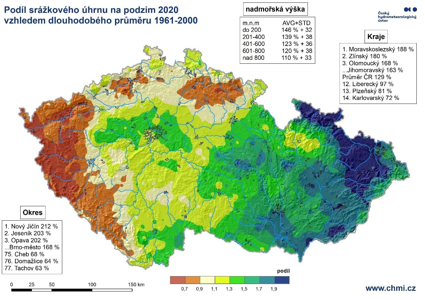 Podzim 2020 – sucho na západě, velká voda na východě2 min čtení