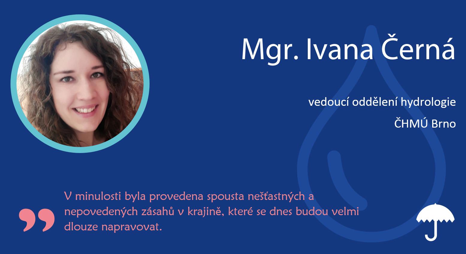 Rozhovor: Ivana Černá, vedoucí oddělení hydrologie9 min čtení