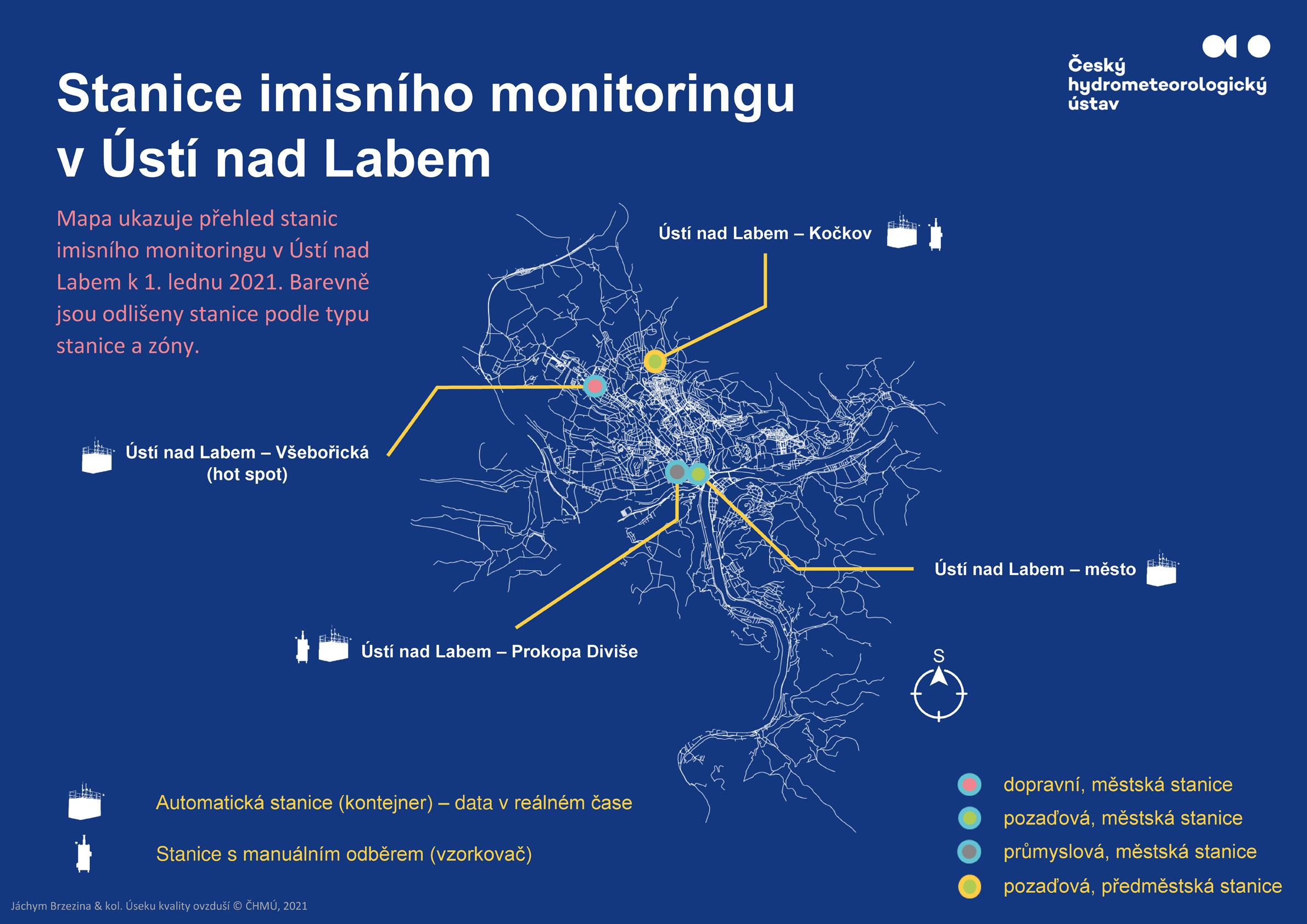 Stanice imisního monitoringu v Ústí nad Labem