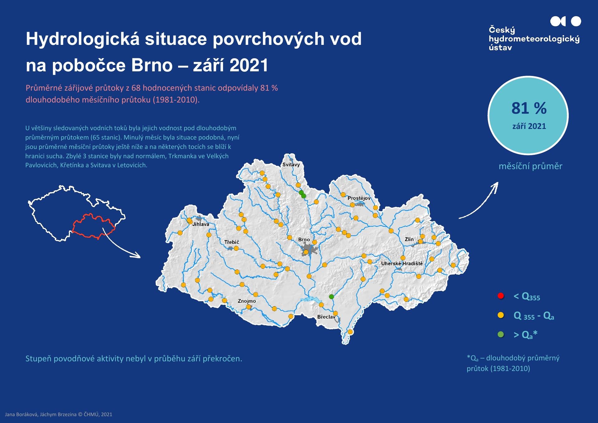 Hydrologická situace povrchových vod na pobočce Brno – září 20211 min čtení
